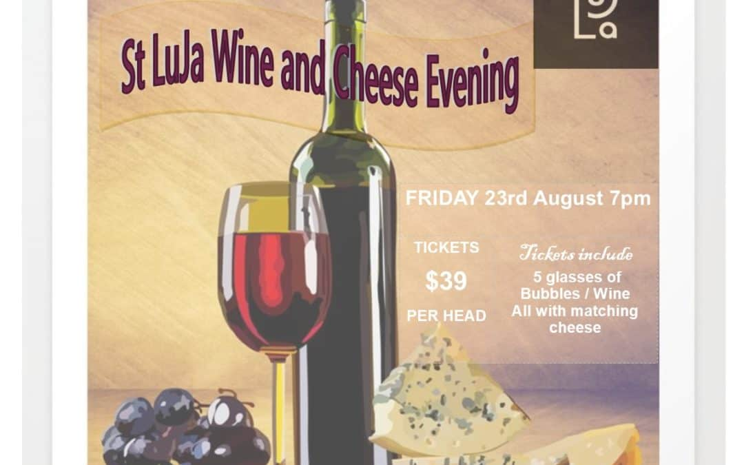 St LuJa Wine and Cheese Evening